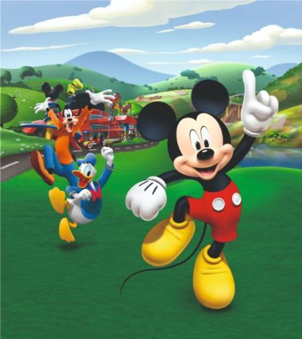 "Disney Premium wall mural Mickey Mouse ""Meadow"""